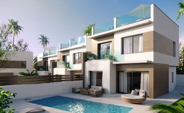 New Build Detached villas with private pools available in the lovely Benijofar