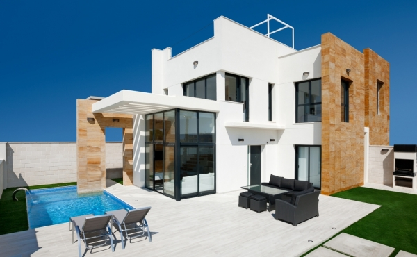Fabulous Design Villas 3 bedroom 2 bathroom with private pool & fabulous views to Cabo Roig Coast